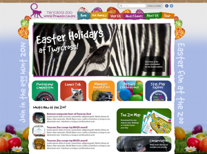 Example of Easter themes website takeover design