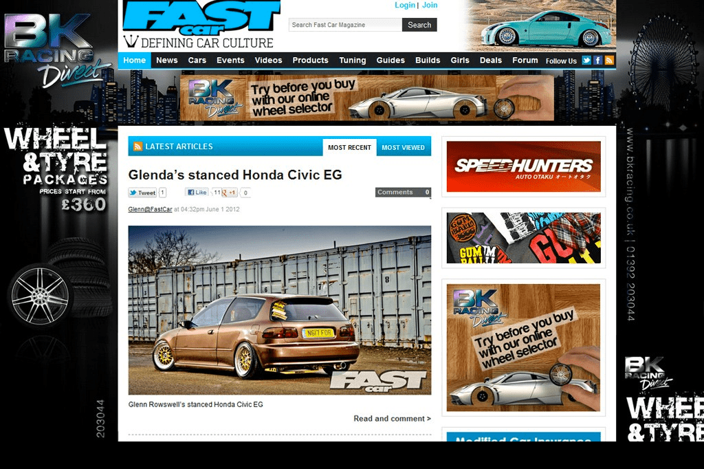 Fast Car Mag Adverts / Takeover