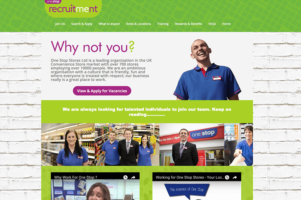 OneStop Recruitment Website