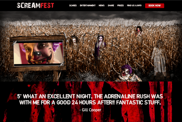 Screamfest... a scarily good website from inLIFE