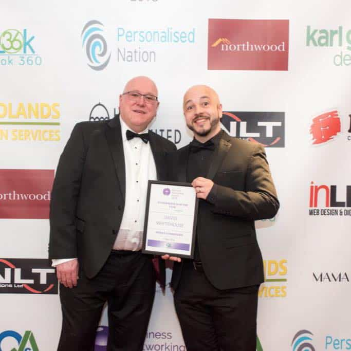 We won Highly Commended for Entrepreneur of the year 2018