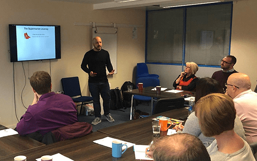 David presents the importance of 'User Journey' at Linkedin-Local Lichfield